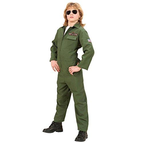 NET TOYS Kinder Fasching Kostüm Pilot Kinderkostüm Jetpilot Fliegerkostüm Pilotenkostüm Fasching Karneval 158 cm