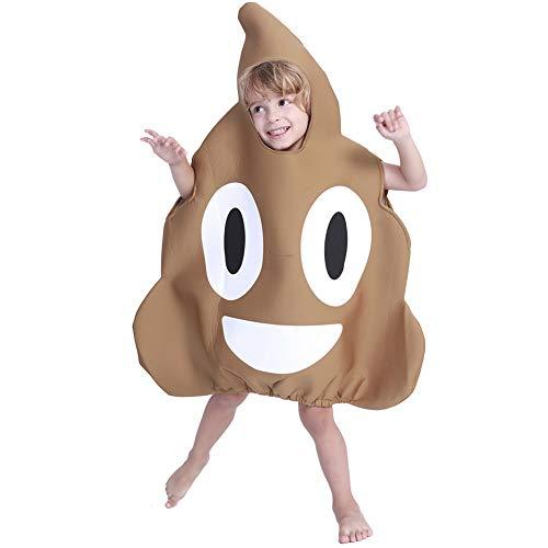 LJLis Halloween-Kostüm Kinder Poop Emoticon Kostüm Jungen Mädchen Halloween Emoji Kinder Show Set Eine Größe