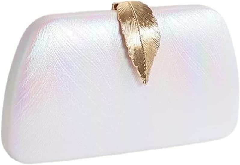 DFCV Ladies Evening Clutch Elegant Leaf Clutch for Weekend Wedding Evening Party Prom Cocktail Various Parties