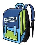 Munich 2D Mochila Tipo Casual, 35 cm, 10 litros, Azul