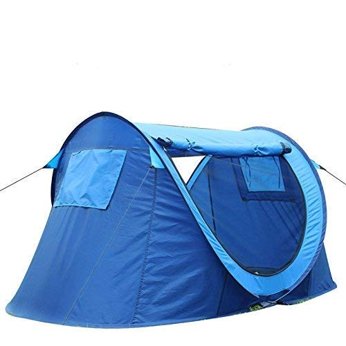 Outdoor Waterproof Tent, Beach Tents, Beach Tents Automatically Open Folding Outdoor Double Fishing Tent Rain Sun Shade UV Tent (Color : Blue),For Beach Camping Hiking Fishing for Beach Camping Hiking