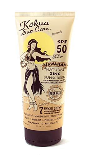 Kokua Sun Care Hawaiian Natural Zinc Sunscreen SPF 50/80 Minutes Water Resistance