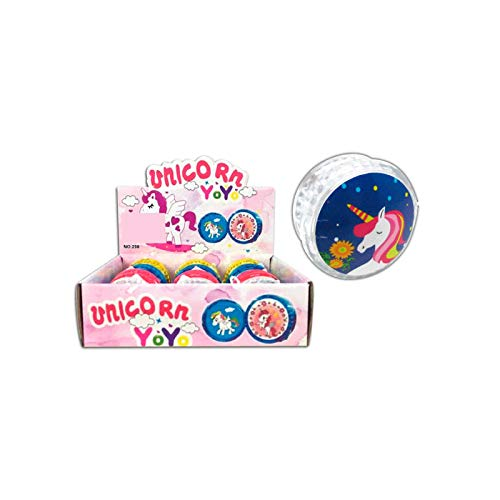 Lote de 12 Yoyo Unicornio - Yo Yos Infantiles para Niños Originales y Baratos. Detalles para Cumpleaños y Comuniones