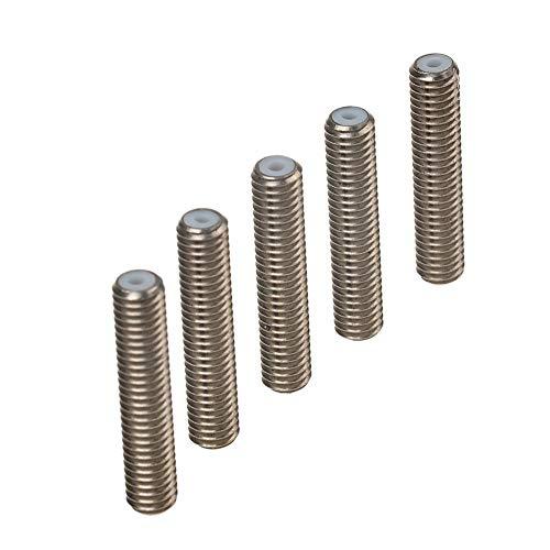 5pcs boquilla garganta, acero inoxidable M6 x 30 mm 1.75 mm tubo Accessary para impresora 3D Extrusora