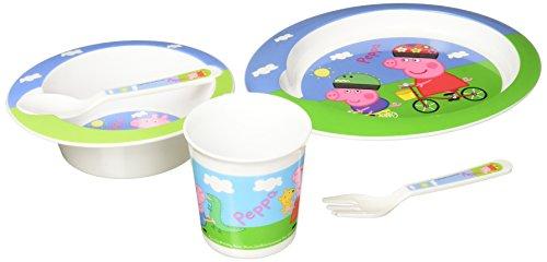 Peppa Pig Mikrowellengeschirr-Set, 5-teilig, Pink