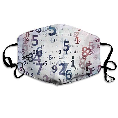 Earloop Masker voor de mond, verstelbaar, digitale code-cijfers, database voor computer, wetenschap, IT-technologie, thema-art