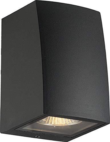 GU10 Design Up oder Down Aussenleuchte Wandleuchte aussen schwarz - Aluminium Anthrazit für LED oder Halogen Leuchtmittel light Außenwandleuchte IP54 (einflutig)