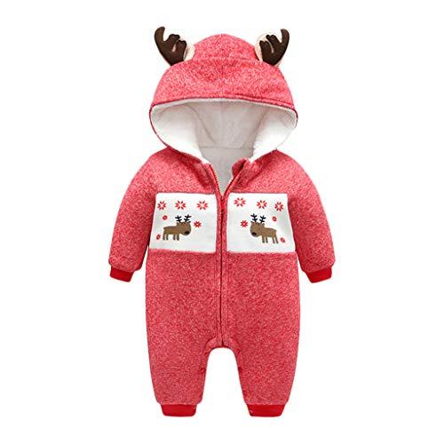 KUDICO Unisexe Bébé Grenouillères Halloween Noël Body Combinaison à Capuche Garçon Filles Barboteuse Romper Jumpsuit Pyjama Déguisement Fête Bodysuit