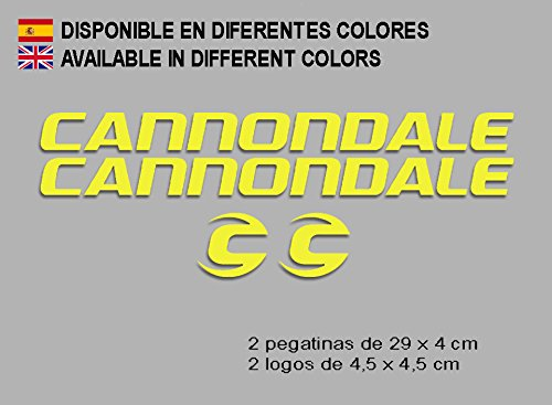 Ecoshirt G9-Y3MV-DZL8 Aufkleber Cannondale F118 Vinyl Aufkleber Decal Sticker Decal Decal Sticker MTB Fahrrad Gelb