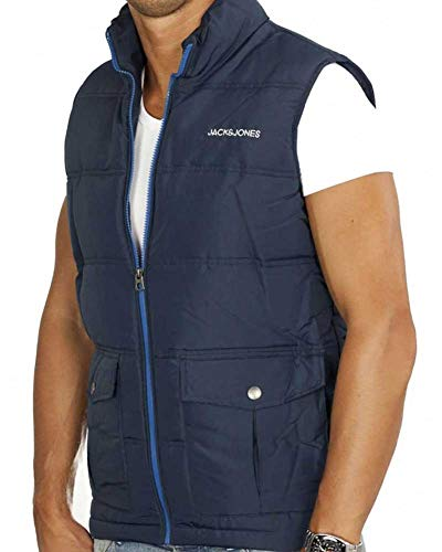 JACK & JONES Herren Weste jjorSKY Bodywarmer (S, Blau (Dress Blue))