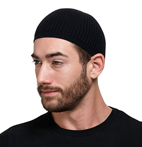 Candid Signature Apparel Cotton Skull Cap Beanie Kufi with Checkered-Knit...
