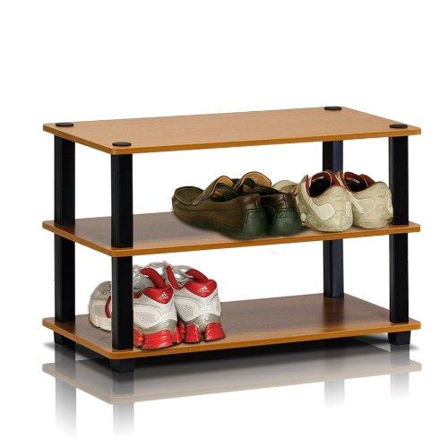Furinno Turn-N-Tube Multi Storage Shoe Rack Espresso//Black 17082EX//BK