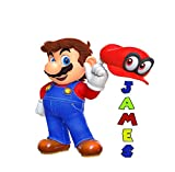 Mario Custom Name Wall Decal, Personalized Wall Decal, Mario Vinyl Sticker, Mario Bros Art, Mario Odyssey, Kids Room, Nursery Decor AS46