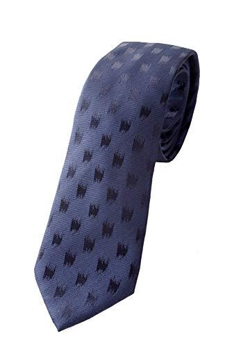 Emporio Armani Herren Krawatte 100% Seide (Night Blue)