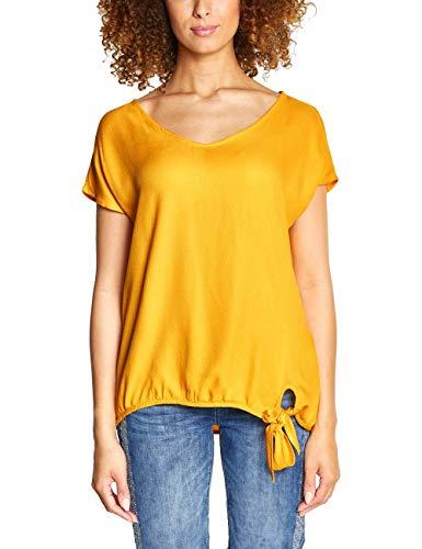 Street One Damen 341497 Tala Bluse, Gelb (Bright Clementine 11804), (Herstellergröße:44)