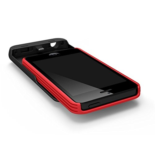 Tylt Energi Sliding Power Case for iPhone 5/5S - Retail Packaging - Red