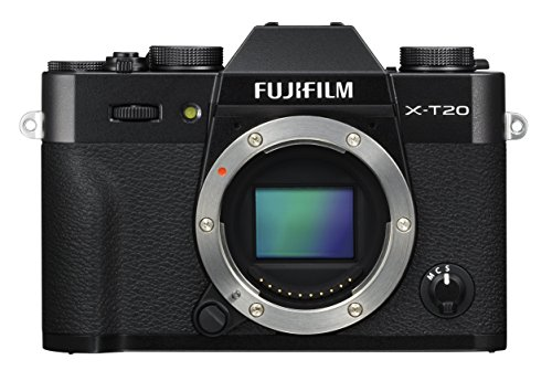 Fujifilm X-T20 Mirrorless Digital Camera - Black (Body Only) (Renewed)