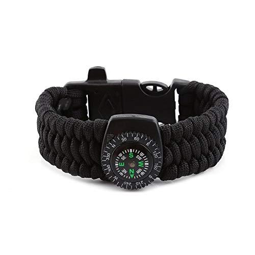 Zyyini Überlebens-Armband, 5 Farben 4 in 1 strapazierfähigem Nylon bietet einfache Sicherheit Outdoor Survival Kit für Camping Wandern(#1)