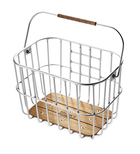 Brooks England Ltd. Unisex Adult Basket Gepäckträgertaschen, Silver, 25 x 42 x 26 cm