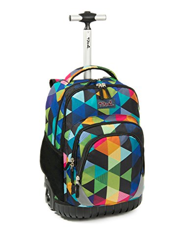 Tilami Large Storage Luggage Bottom Fenders 18 Inch Rolling Bag Book Backpack Wheels Laptop School...