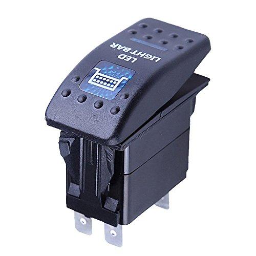 Mintice trade; 12V KFZ Blau LED Licht Beleuchtet Wippenschalter Kippschalter Auto Armaturenbrett Schalter Bar Light