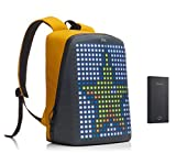 Pix backpack with programmable screen, Yellow, With Powerbank