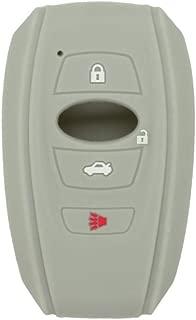 SEGADEN Silicone Cover Protector Case Skin Jacket fit for SUBARU 4 Button Smart Remote Key Fob CV4255 Gray