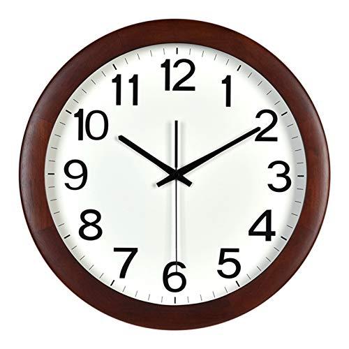 Vinteen Norte de Europa Reloj de Pared Moderna Moderna Creatividad Moda Moda Marco de Madera sólido Cuarzo Bolsillo Reloj salón Reloj silencioso Reloj de Alta transmitancia Ronda de Bolsillo Reloj de