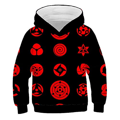 Men Hokage Ninjia Naruto Printed Drawstring Unisex Hooded Cool Long Sleeve Loose Fit Hoodies A15XL