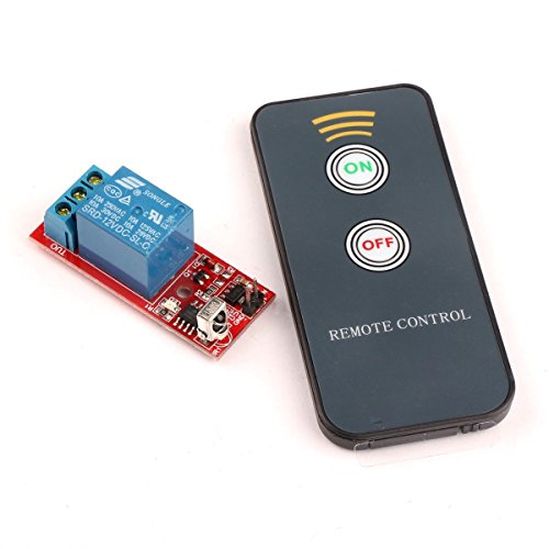Preisvergleich Produktbild Droking Infrarot-Empfänger Relais-Treiberplatine Fernbedienung 8M Wireless Controller LED Plattenplatine IR-Fernbedienung Schalter-1 12V Selbsthemmend