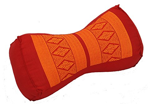Kissen (30x15x10cm) mit Füllung aus Kapok, rot-orange. Perfekt als festes Stützkissen.