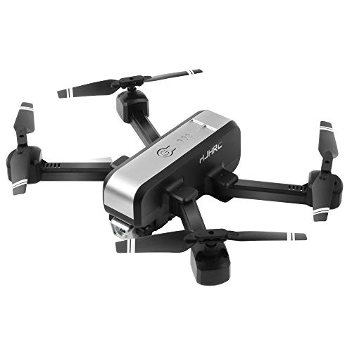 SNOWINSPRING HJ96 RC Drone 1080P HD WiFi FPV Drone CáMara Dual Foto de Gesto de RetencióN de Altitud Juguetes Quadcopter Plegables para Ni?Os Negro