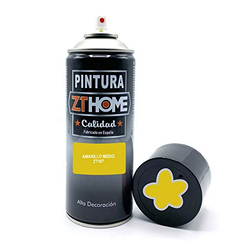 Pintura Spray Amarillo medio 400ml imprimacion para madera, metal, ceramica, plasticos / Pinta todo tipo de cosas y superficies Radiadores, bicicleta, coche, plasticos, microondas, graffiti