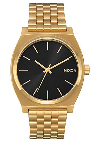 Nixon Time Teller All Gold/Black Sunray Women's Watch (37mm. Gold/Black Sunray Face & Gold Metal Band)