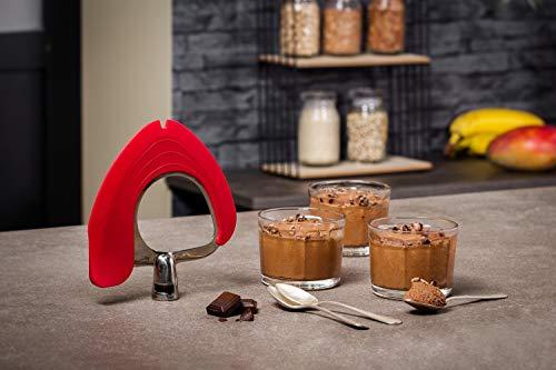 Krups Premium Küchenmaschine 17 teilig, 4,6L Edelstahlschüssel, Silikonschüssel, 4 Rührwerkzeuge Edelstahl, spülmaschinenfest, 1100W, Schnitzelwerk, Fleischwolf, Gratis Rezepte und 12er Cupcake Form - 14