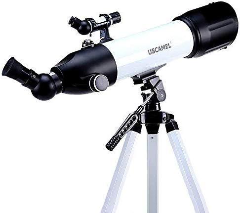 Houguiyuan Tragbare Teleskop for Einsteiger und Jugendliche 400mm Fokus Länge und 80 mm Blende, 2 Okulare, Einstellbare Stativ Geeignet für Anfänger und Kinder