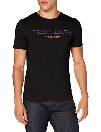Teddy Smith 11014744D T-Shirt, Noir, 3X-Large Homme