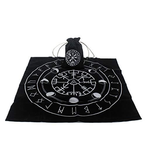 Dalin Tarot-Tischdecke mit Tarotbeutel, Rune, Mond, Phase, Wahrsagen, Hexe, Altar Pad