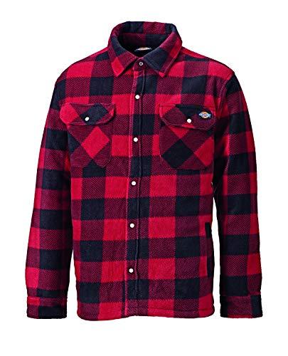 Dickies Portland DICSH5000-R-L - Camisa térmica, Rojo, L