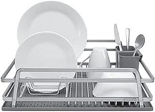 Jascor Housewares TadaJascor Housewares Tada Aluminum Dish Rack with DrySmart Mat Aluminum Dish Rack with DrySmart Mat