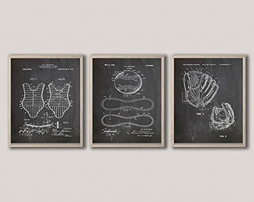 Free Brand 12' x 16' Modern Wall Art, Baseball Umpire Gift Baseball Glove...
