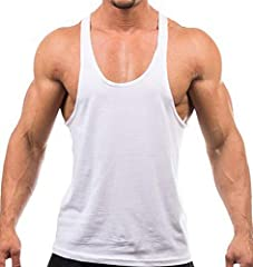 Cotton, Y-Back, Tagless. Design in USA Various colors to choose. Different colors every day Mens workout muscle gym shirt features with Y-Back, sleeveless design, solid color and loose & stringer cutting allows greater mobility when you doing exercis...