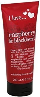 I love Exfoliating Shower Smoothie, Raspberry & Blackberry 6.8 fl oz (200 ml)
