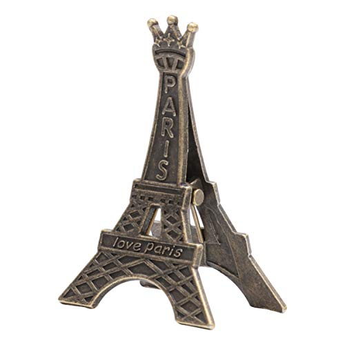 TOPBATHY 18pcs Paris Eiffel Tower Photo Holders for Tables Decor Centerpiece Decoration Wedding Table Number Holder Paper Massage Note Clips Vintage