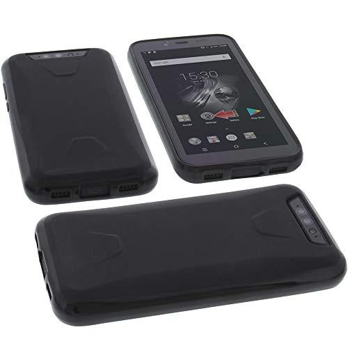 foto-kontor Funda para Blackview BV5500 / BV5500 Pro Protectora de Goma TPU para móvil Negra