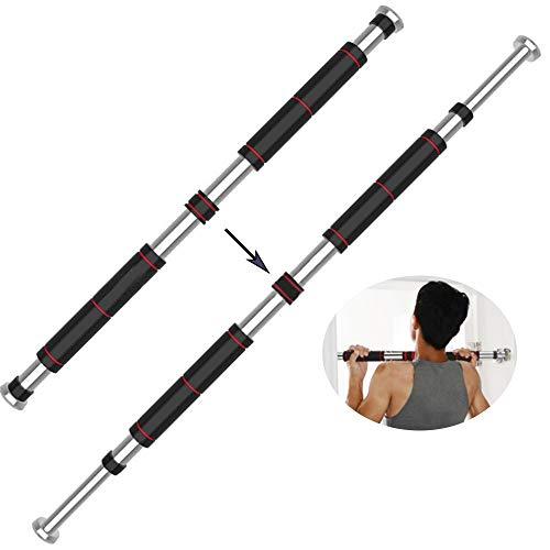barra trazioni 200 kg Lixada Barra per Sollevamento Acciaio Regolabile 60-100cm/80-130cm