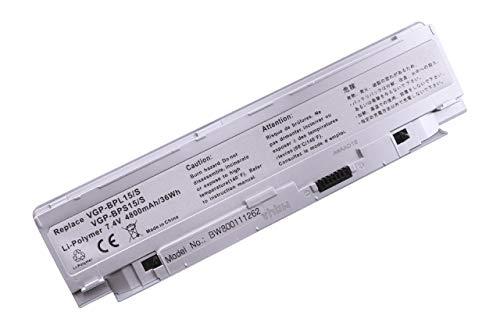 vhbw Li-Polymer Batterie 4800mAh (7.4V) Argent pour Ordinateur Portable, Notebook Sony VAIO VGN-P730A/Q, VGN-P730A/R, VGN-P730A/W comme VGP-BPS15/S.