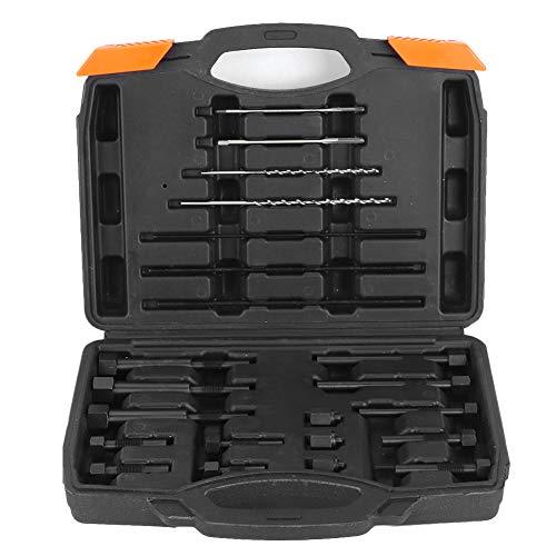 Yctze Kit d'outils de retrait d'électrodes de bougie de préchauffage, 22pcs M8 M10 Kit de démontage d'électrodes de bougie de préchauffage en acier M8 M10 Outil de retrait d'extraction portable