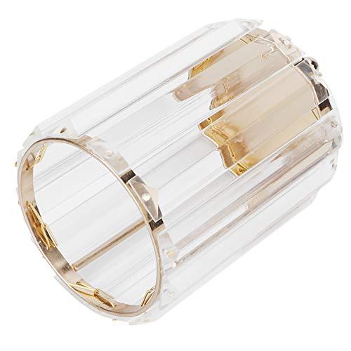 Mxzzand Decoración de Escritorio Soporte para bolígrafo Contenedor de papelería Diseño Transparente Soporte para Pinceles de Maquillaje Caja de Almacenamiento Vestidor para tocador casero