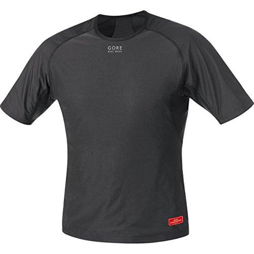 GORE WEAR Herren Unterhemd Base Layer Windstopper Shirt, Black, XL